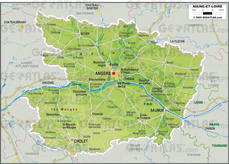 Carte Maine Et Loire Carte