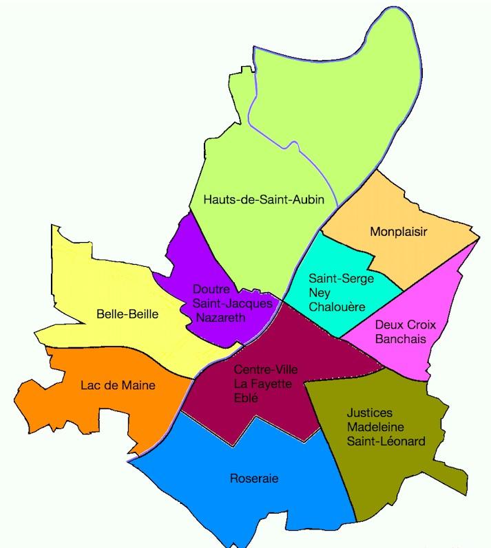 Plan D Angers Par Quartier Plan Du Centre Ville A Imprimer